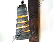 """TUSCAN - """"Classic"""" - Wine Barrel Wall Sconce -100% Recycled"""