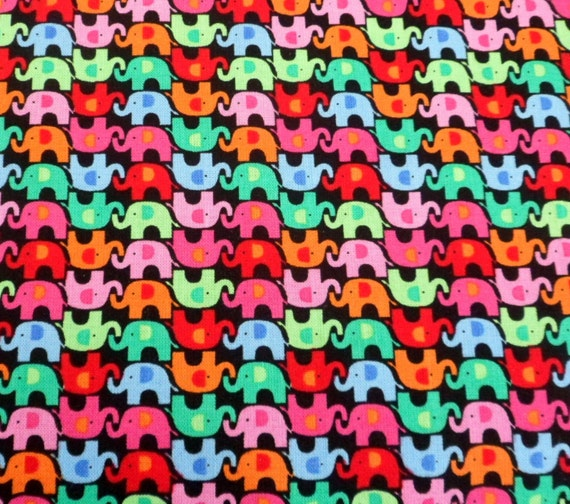 Elephant fabric mini elephant fabric children 39 s fabric for Childrens elephant fabric