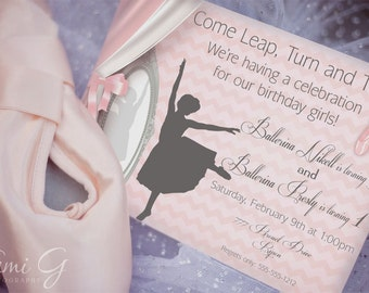 Ballet Party Invitation - Classic Ballet Party Collection - Seen on Hostess with the Mostess - Karas Party Ideas - Gwynn Wasson PRINTABLES