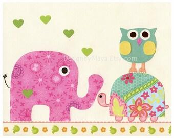 Baby girl room, nursery wall art, Kids Room Decor Nursery Art ..Doopy Doo..match to colors of daisy bedding, kids room art, children room