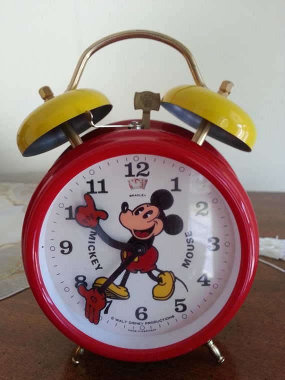 Mickey Mouse Alarm Clock Vintage Mickey Mouse Alarm