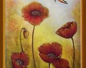 TUTORIAL  Acrylic & Mixed Media Painting: Poppies