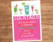 Cocktail Party Custom Printable Invitation