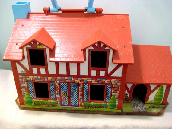 Vintage Fisher Price Little People Tudor Doll House