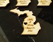 20 Michigan State Wedding Favors Custom Engraved
