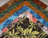 Bandanas,  Set of Six, Hawaiian Prints