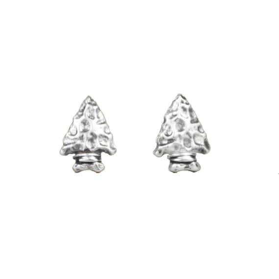 Arrowhead Earrings in Sterling Silver