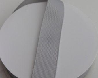 "Shell Gray Grosgrain Ribbon - 7/8"" - 5 yards - Gray Ribbon - Hair Bow Ribbon - Wholesale Ribbon - Ribbon for Hair Bows"