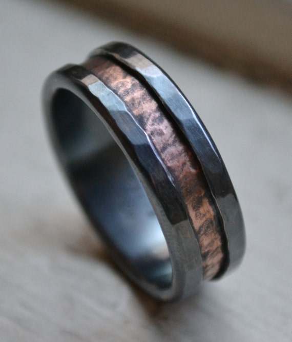 Rustic Fine Silver And Copper Ring Handmade By MaggiDesigns