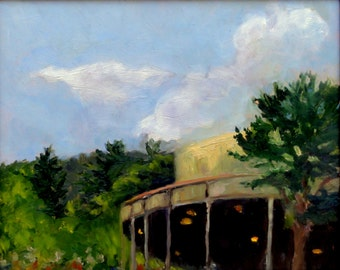 Tanglewood landcsape painting - Before the Concert