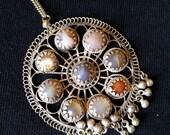 Kulchi Pendant with Inlaid Beads & Bells
