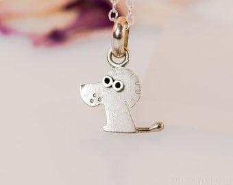 Lion Pendant Sterling Silver Mini Zoo series