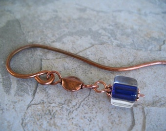 Copper Bookmark Purple Bookmark Beaded Book Lover Gift