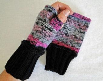 Fingerless Gloves Knit Surprise Wrist Warmers