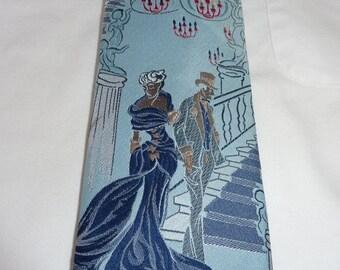 1970s Men's 4 inch Wide Necktie Prince Igor    Novelty Blue Tie