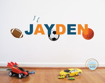 Sports Balls Decals, Balls Personalized, Reusable, Nursery decor, Girls and Boys, Art for playrooms, Boys Rooms