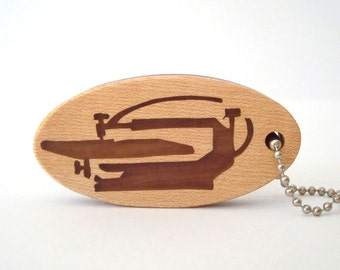 Scroll Saw Key Chain Keychain Maple Walnut Hand Cut Scrollsaw