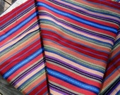Guatemalan Fabric in Muted Stripes