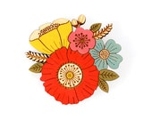 Poppy Posy Brooch