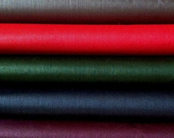 "Ahimsa Peace Silk Yardage. Natural, organic, fairtrade fabric. 42"" / 106 cm wide. Choose from  DARK FANTASY Palette of 5 potent colors."