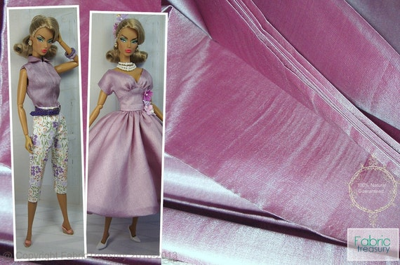 Sheer Silk Fabric Handmade Ahimsa Peace silk. 100% Pure Silk. Womens Dress Fabric. Light weight. ICE CREAM SHOP collection. Vintage Mauve.
