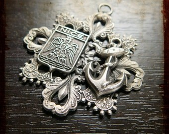 Antique French Silver Medal from Nice - Vintage large medal from South of France