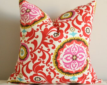 Cheerful Suzani Pillow Cover