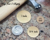 BRASS Stamping Blanks ... 1/2 inch Circles - 10 for You - for Jewelry, Stamping, Scrapbooking, and more....