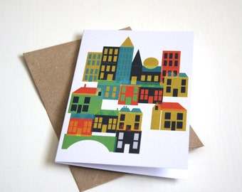 Greeting Card, Blank Card, New House Card, Moving Card