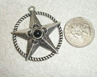 western, texas star pendant,40mm
