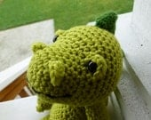 Made to Order-Eddie the Dinosaur Crocheted Toy