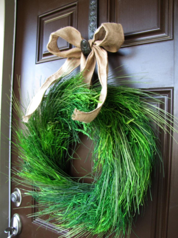 Beach Cottage Wreath Sea Grass Wreath Year Round Green
