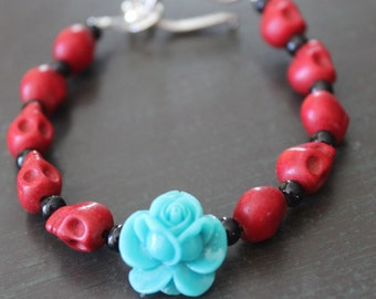 Sugar Skull Bracelet Day of the Dead Bracelet