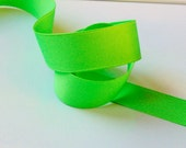 Neon Green Solid 7/8 inch - choose from 1-50 yards Grosgrain Ribbon - Hairbow Supplies, Etc.