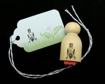 tiny bird  no.1 rubber stamp