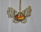 Super cute steampunk butterfly necklace free shipping