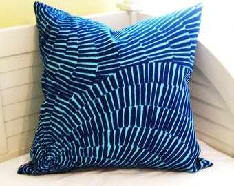 Trina Turk for Schumacher Sonriza in Marine/Pool (on Both Sides)  Pillow Cover