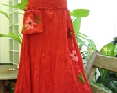 Nothing to Worry About Long Skirt II - RED