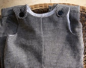SALE Size 6 Month Baby Boy's Winter Romper Houndstooth