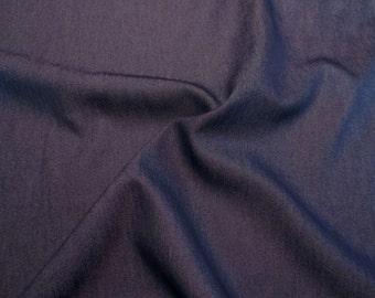 Indigo Rayon Blend Soft Denim Fabric--One Yard