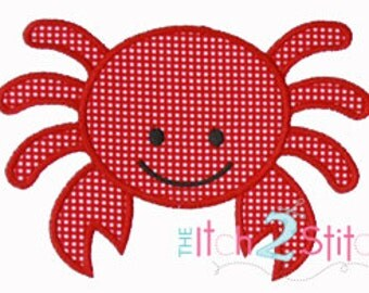 Crab 3 Applique Design (font NOT included) In Hoop Sizes 4x4, 5x7, and 6x10 INSTANT DOWNLOAD now available