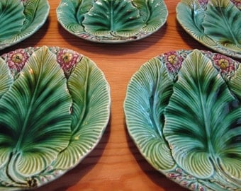 Set of 5 art noveau dishes