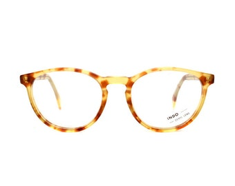 light brown tortoise cateye glasses - transparent vintage eyeglasses frames - original 1980s cat eye model in 50s style - catherine pastel