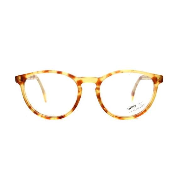 light brown tortoise cateye glasses transparent vintage