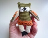 Penelope -  Little  tiny owl, soft art  toy creature  by Wassupbrothers.