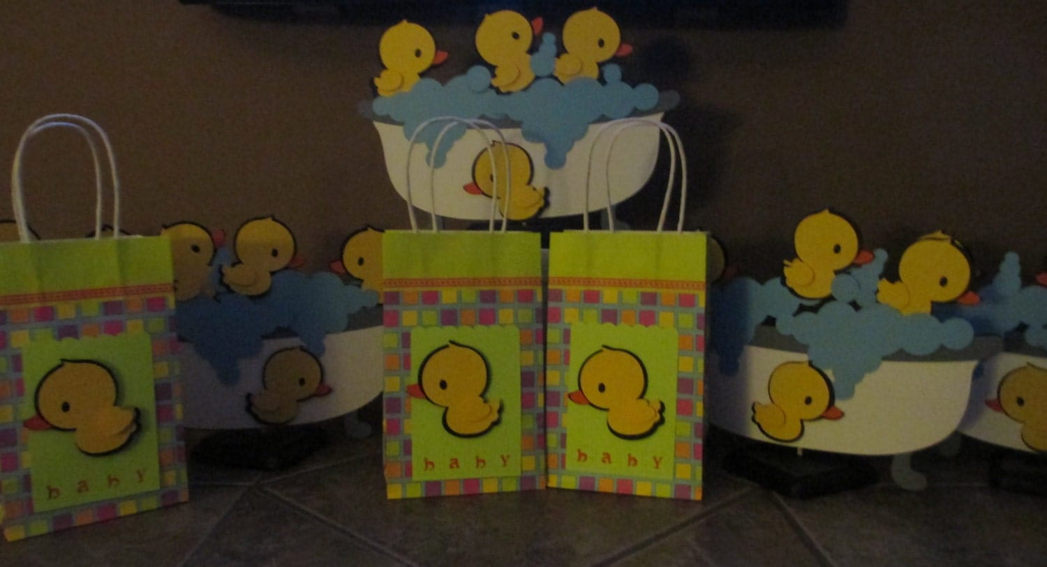 baby shower gift bags by cricflix on etsy