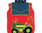 Personalized Monogrammed Stephen Joseph Signature Collection Quilted Tractor Farm Backpack--Free Monogramming--