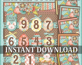 CLEARANCE Easter Countdown, Advent Printable - INSTANT DOWNLOAD