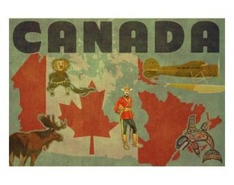 CANADA 2FS- Handmade Leather Journal / Sketchbook - Travel Art