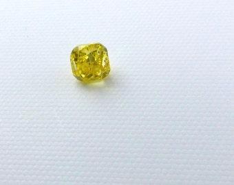 YELLOW DiAMOND. CERTiFIED Natural. Australian. Cert provided. Cushion. Fancy Vivid Yellow. 1 pc. 0.19 cts. 2.96x2.91mm  (Dia239)